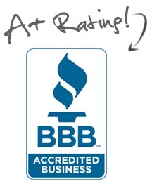 BBB Accredited Business, A+ Rating, and Honor Roll Member